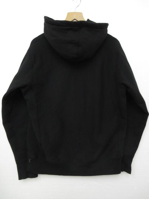 正規品 2018AW シュプリーム プルオーバーパーカー 袖ロゴフーディーSupreme Gradient Sleeve Hooded Sweatshirt Black 黒 M■L21398AWS19_画像2
