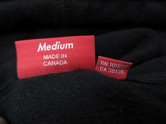 正規品 2018AW シュプリーム プルオーバーパーカー 袖ロゴフーディーSupreme Gradient Sleeve Hooded Sweatshirt Black 黒 M■L21398AWS19_画像6