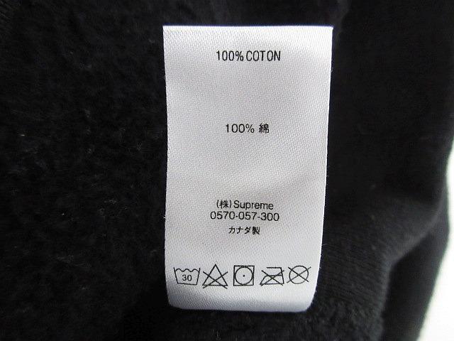 正規品 2018AW シュプリーム プルオーバーパーカー 袖ロゴフーディーSupreme Gradient Sleeve Hooded Sweatshirt Black 黒 M■L21398AWS19_画像9