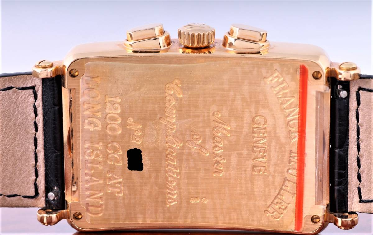新品 フランク・ミュラー ロングアイランド クロノグラフ 1200CC AT 自動巻き シルバー文字盤 メンズ ピンクゴールド 定価424万円_画像4