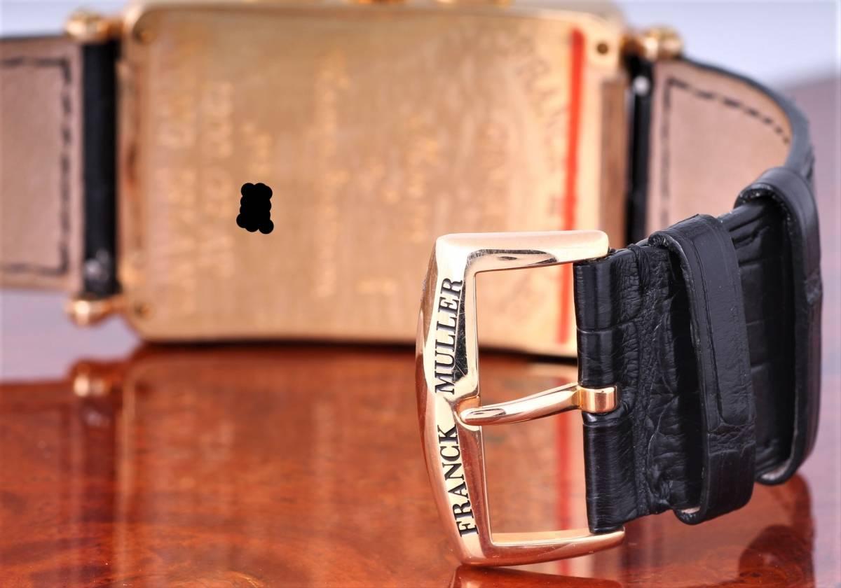新品 フランク・ミュラー ロングアイランド クロノグラフ 1200CC AT 自動巻き シルバー文字盤 メンズ ピンクゴールド 定価424万円_画像7