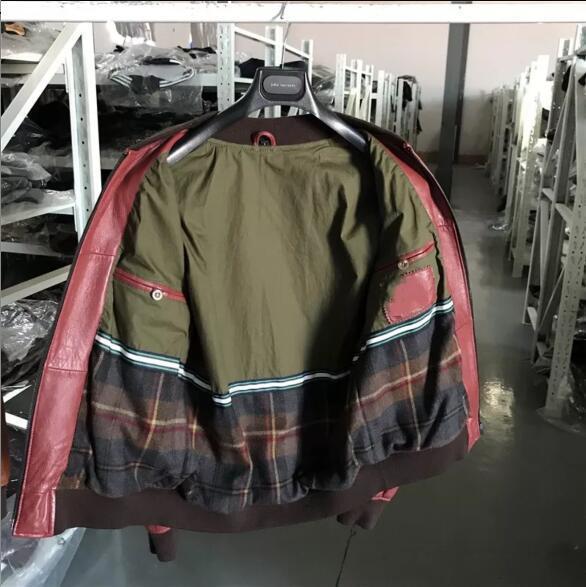 ♪*最上級羊革100%豪華刺繍 天然皮革◆ライダース/ジャケット/ブルゾン 赤 サイズ選択可 ♪♪_画像2