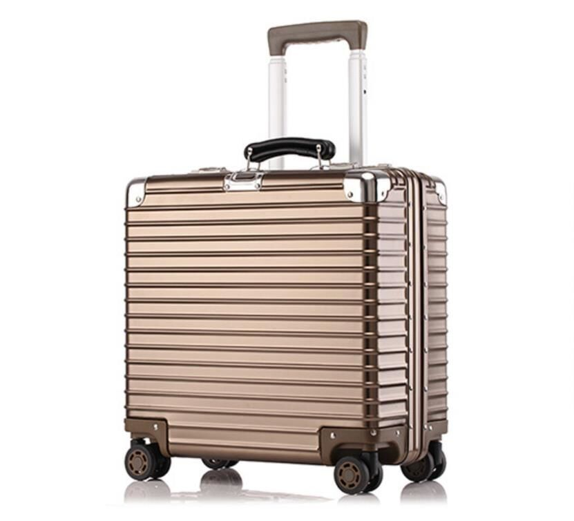 ♪【定価37万】♪※EU基準※アルミマグネシウム合金製・軽量/静音・TSAロック搭載スーツケース・キャリーケース※機内持ち込可 /18インチ@