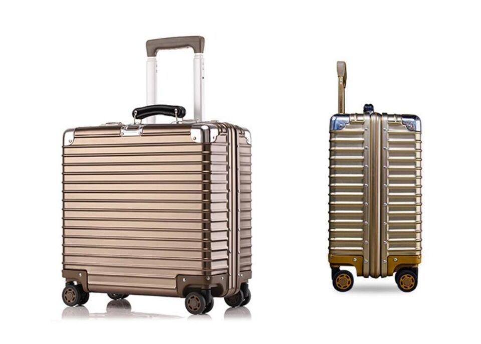 ♪【定価37万】♪※EU基準※アルミマグネシウム合金製・軽量/静音・TSAロック搭載スーツケース・キャリーケース※機内持ち込可 /18インチ@_画像2