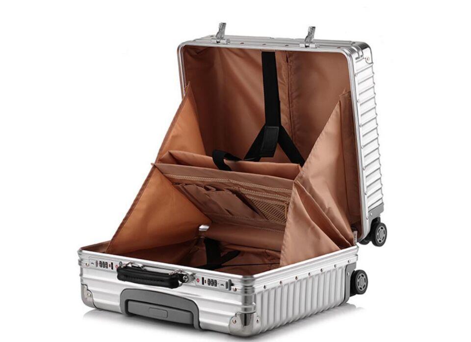 ♪【定価37万】♪※EU基準※アルミマグネシウム合金製・軽量/静音・TSAロック搭載スーツケース・キャリーケース※機内持ち込可 /18インチ@_画像4