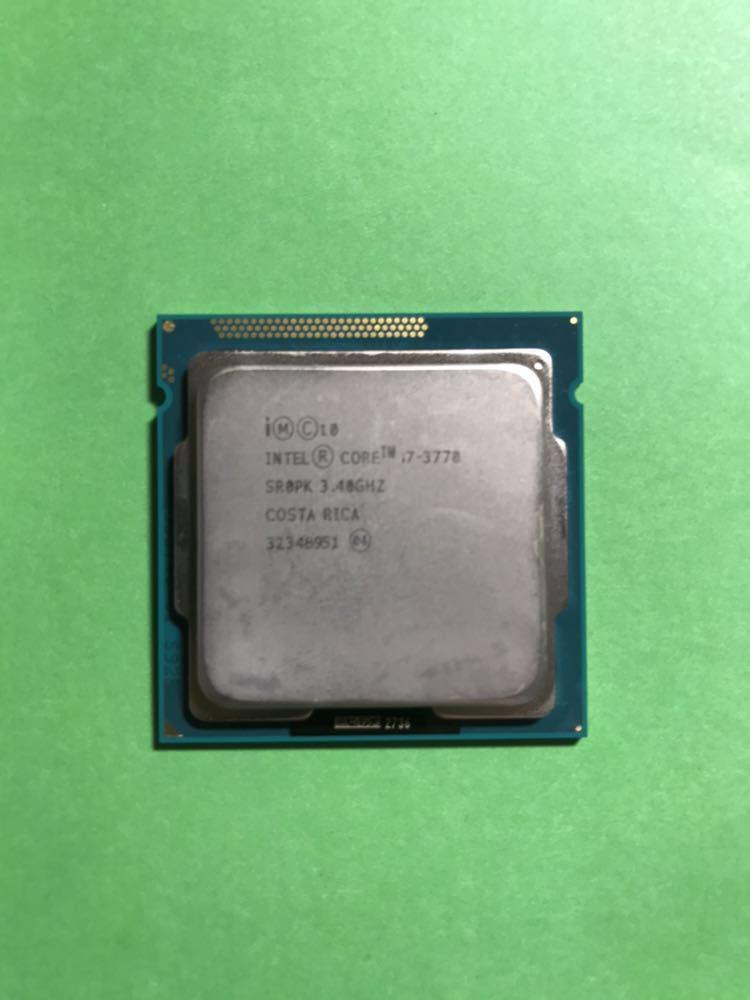 【良品】【送料無料】Intel Core i7-3770 3.40GHz LGA1155 4コア8スレッド Ivy Bridge
