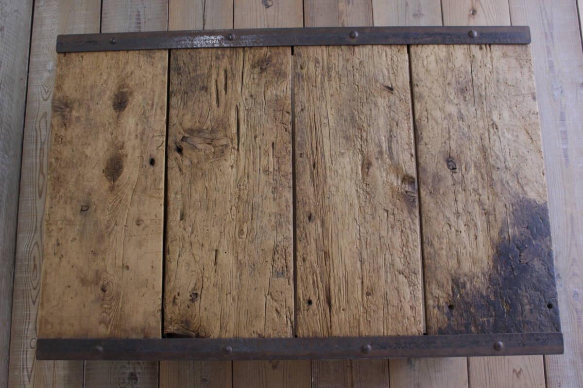 ビンテージ パレット ローテーブル センター 花台 無垢材 ディスプレイ ガーデニング/トローリーアンティークオールドリフト/ICT05027_画像8