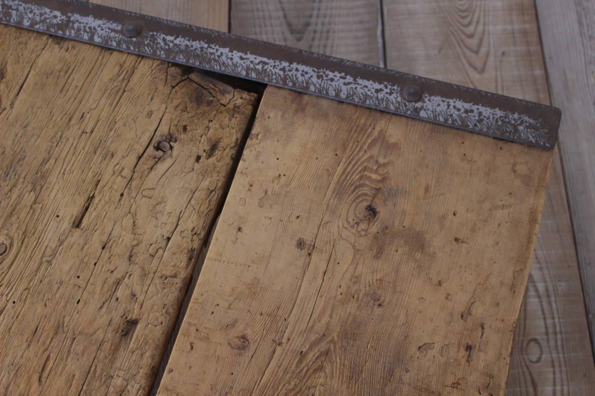 ビンテージ パレット ローテーブル センター 花台 無垢材 ディスプレイ ガーデニング/トローリーアンティークオールドリフト/ICT05027_画像4