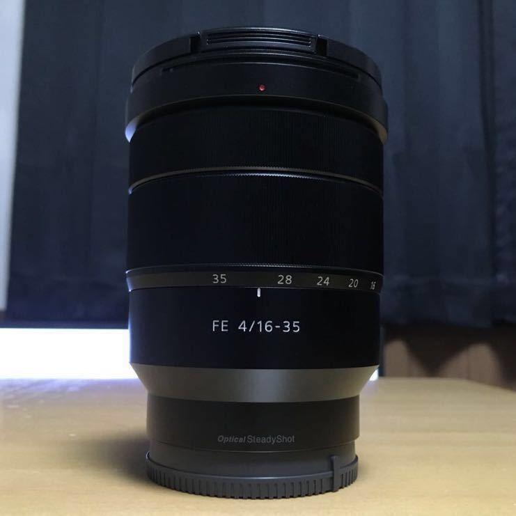 【美品】SONY ズームレンズ Vario-Tessar T* FE 16-35mm F4 ZA OSS Eマウント35mmフルサイズ対応 SEL1635Z_画像2