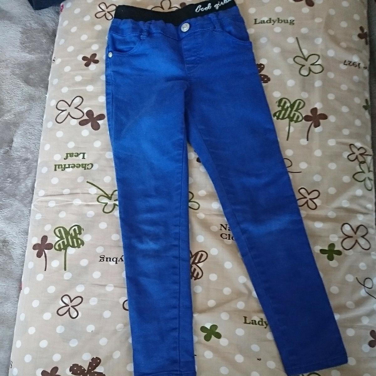 かっこいいパンツ 女の子 ズボン 長ズボン スキニー ストレッチ 130㎝ ブルー 青 子供服