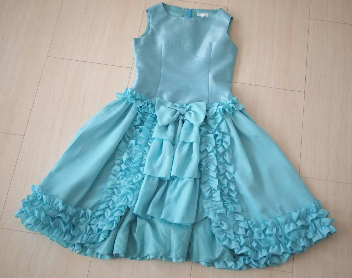 7f73940fc35fd 代購代標第一品牌- 樂淘letao - キャサリンコテージゴージャスフリルデザインドレス綺麗なミントグリーン系サイズ150