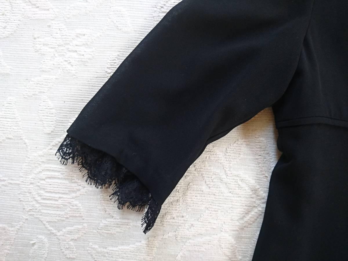 SOIR BENIR 黒 冠婚葬祭 喪服 レースワンピース サイズ11 送360円~_画像9