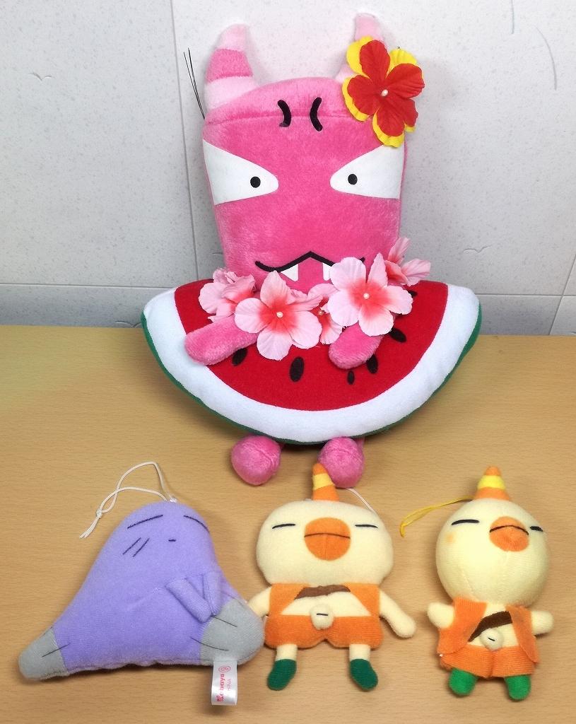 おじゃる丸 ぬいぐるみセット 貧ちゃん キスケ アカネ プライズ 食玩_画像1