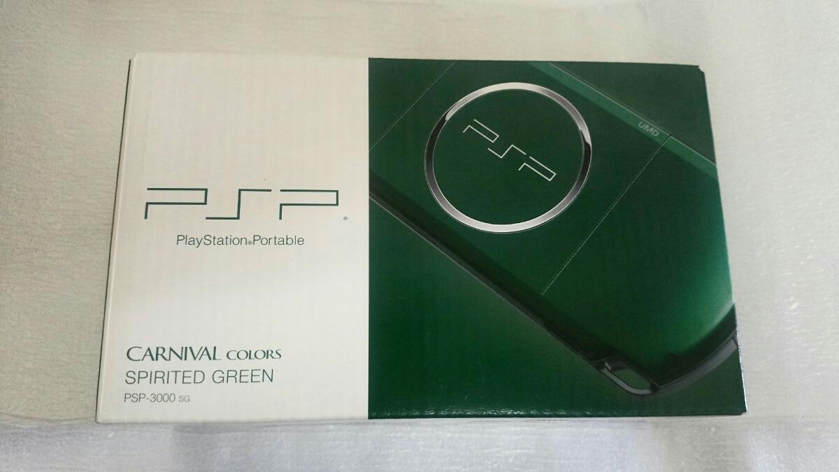 新品同様 PSP「プレイステーション・ポータブル」 スピリティッド・グリーン (PSP-3000SG) 本体 1円~