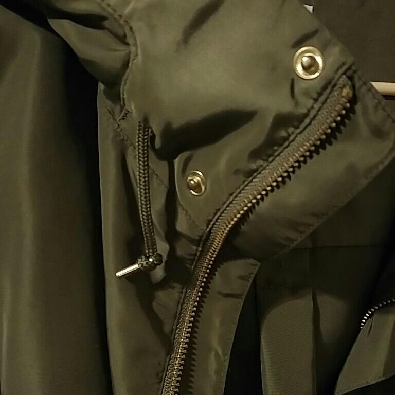ニコアンド マウンテンパーカー 薄手ジャケット スプリングコート カーキ色 サイズ3 美品_画像7