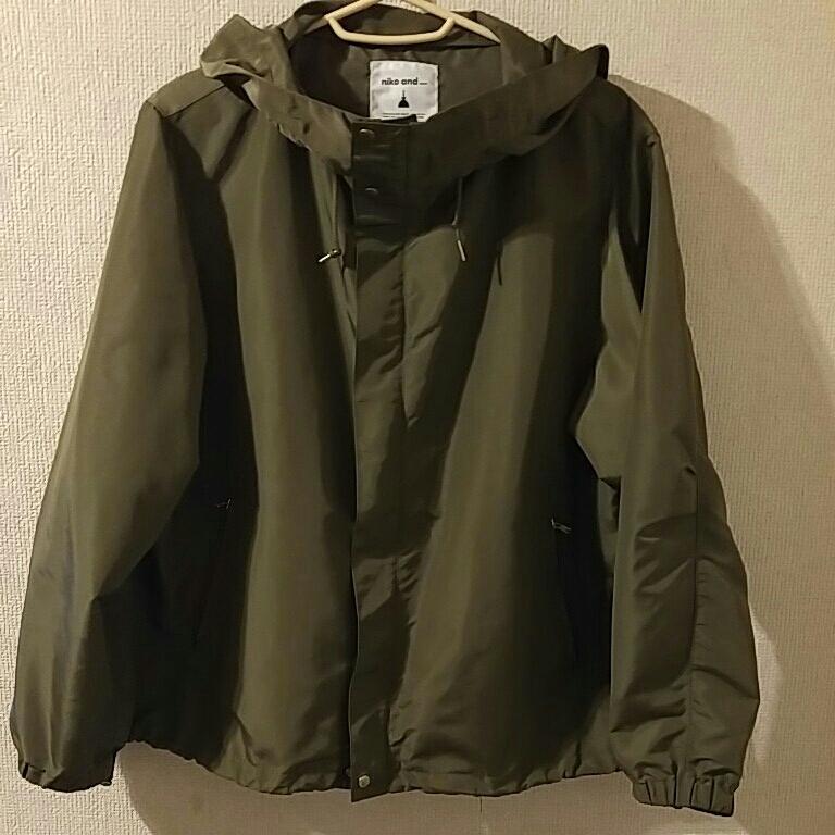 ニコアンド マウンテンパーカー 薄手ジャケット スプリングコート カーキ色 サイズ3 美品