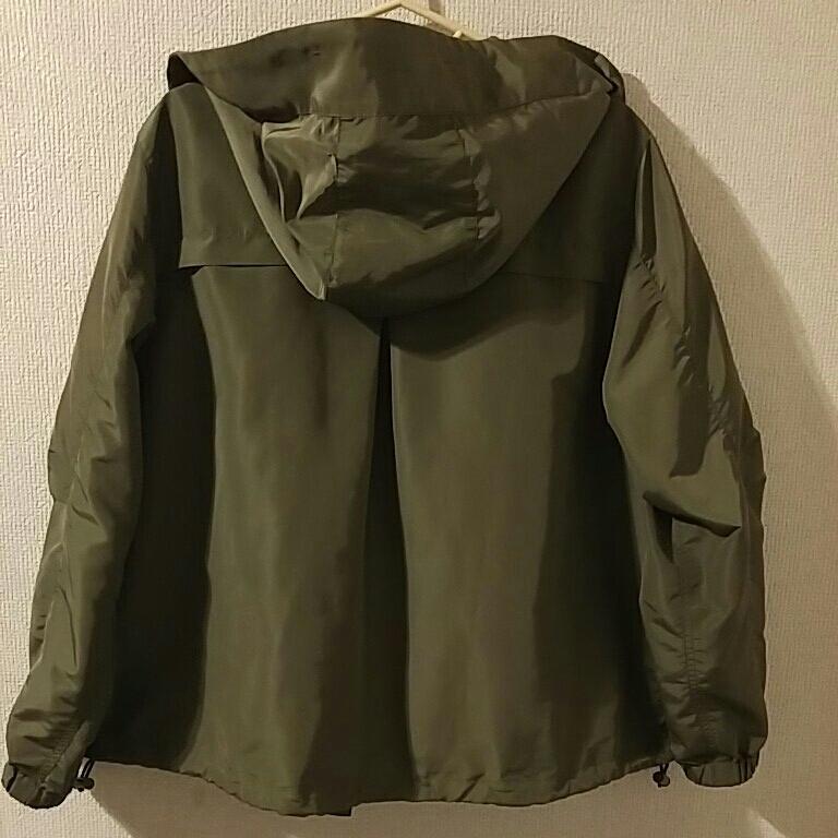 ニコアンド マウンテンパーカー 薄手ジャケット スプリングコート カーキ色 サイズ3 美品_画像5
