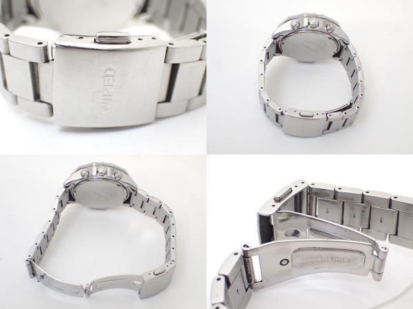 SEIKOセイコー/WIREDワイアード/VK63-K080/クロノグラフ/メンズ腕時計/ブルー文字盤[T]_画像7