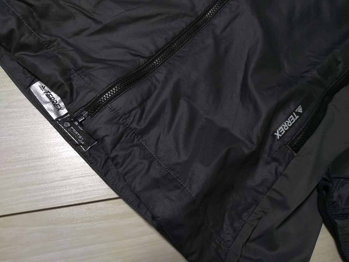 新品 adidas アディダス POLATEC TERREX 超軽量 ウインドパーカージャケット OT LL グレイ 定価17,000円+税 パッカブルでコンパクトに収納_画像2