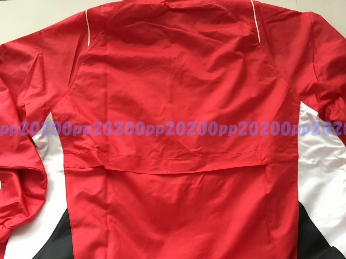 MIZUNO ミズノ ウォームアップシャツ(裏総メッシュ) ウインドブレーカー 撥水 O 定価7020円 _画像5