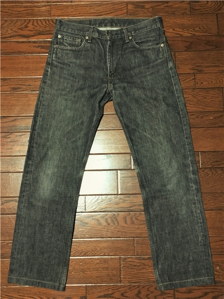 リーバイス Levi's 505 w32 ブラック ジーンズ 黒 デニム パンツ 日本製 ジッパーフライ ジーパン アメカジ 古着_画像3
