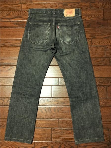 リーバイス Levi's 505 w32 ブラック ジーンズ 黒 デニム パンツ 日本製 ジッパーフライ ジーパン アメカジ 古着_画像4