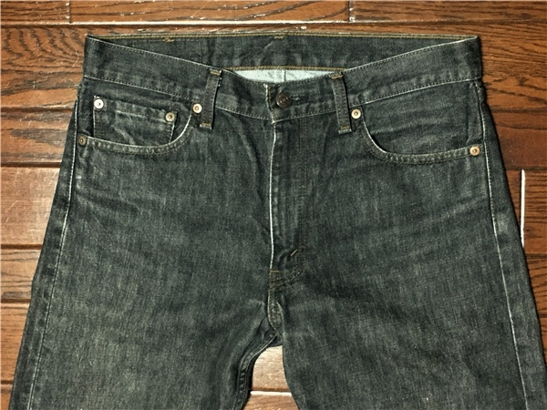 リーバイス Levi's 505 w32 ブラック ジーンズ 黒 デニム パンツ 日本製 ジッパーフライ ジーパン アメカジ 古着_画像1