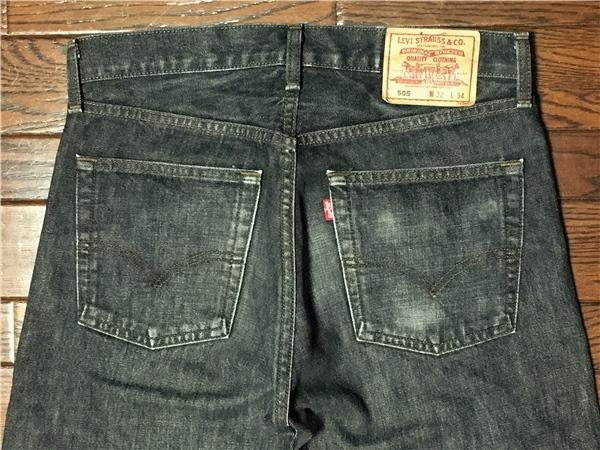 リーバイス Levi's 505 w32 ブラック ジーンズ 黒 デニム パンツ 日本製 ジッパーフライ ジーパン アメカジ 古着_画像2