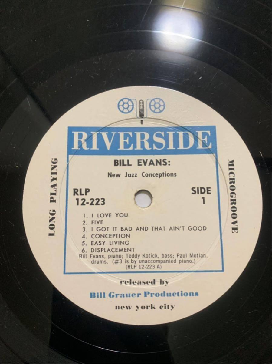 【超絶希少盤! 白ラベル】BILL EVANS NEW JAZZ CONCEPTIONS RIVERSIDE RLP12-223 オリジナル_画像5