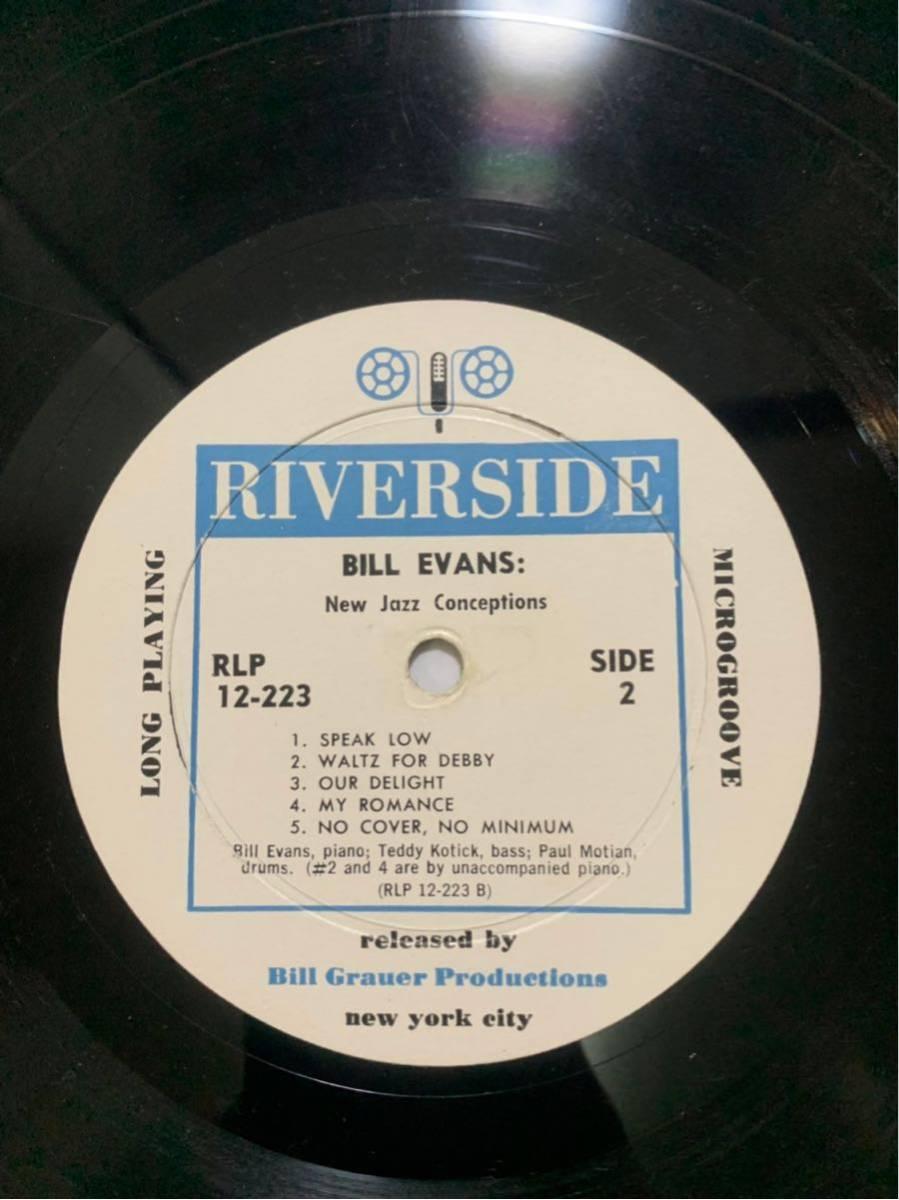 【超絶希少盤! 白ラベル】BILL EVANS NEW JAZZ CONCEPTIONS RIVERSIDE RLP12-223 オリジナル_画像7