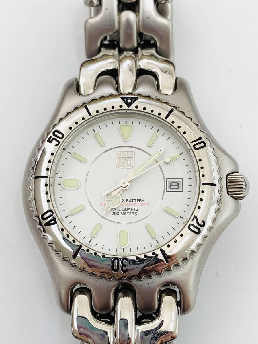 1907 480円~ 中古品 ELGIN/エルジン FK-664-A クォーツ メンズ 腕時計