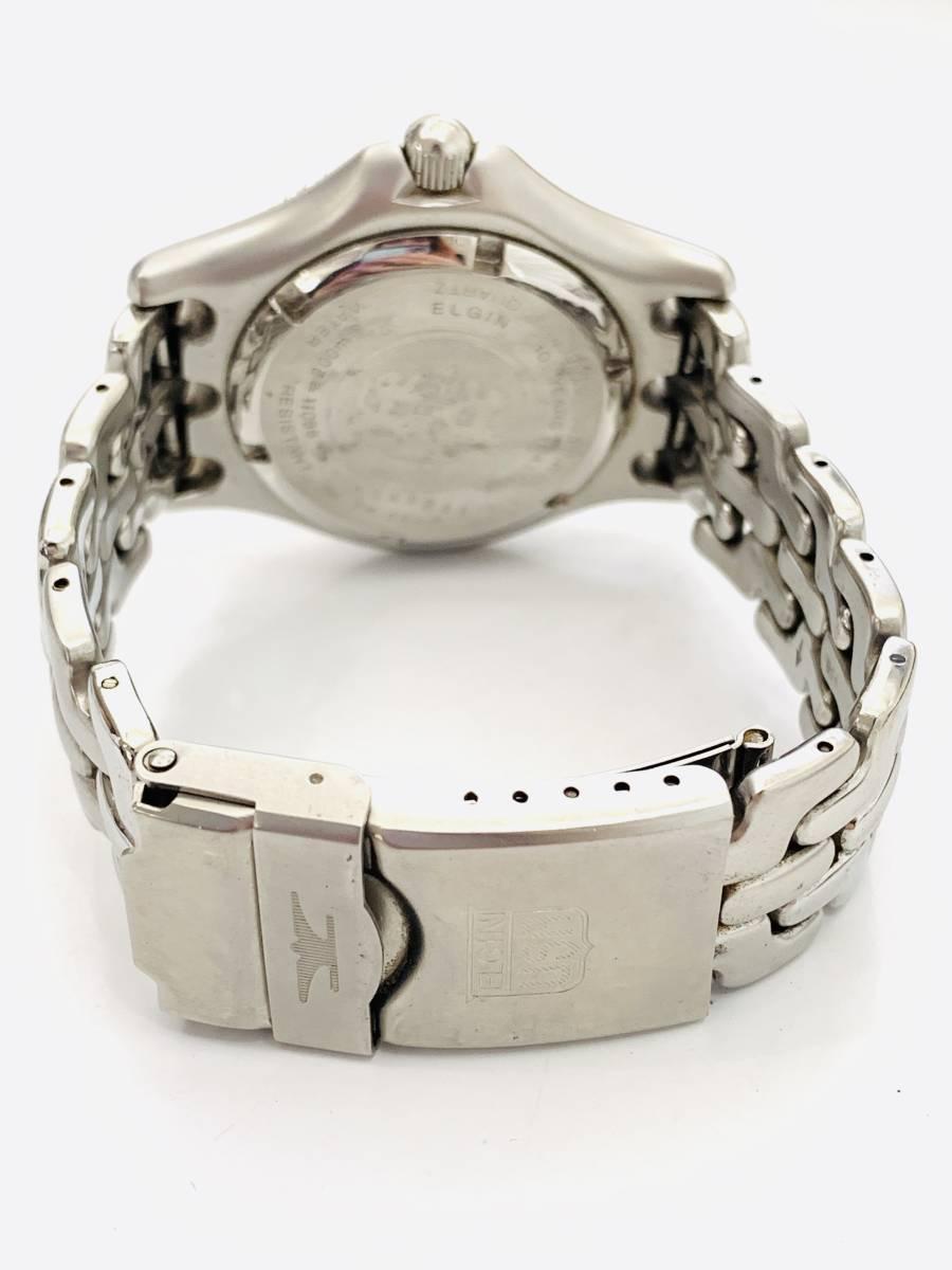 1907 480円~ 中古品 ELGIN/エルジン FK-664-A クォーツ メンズ 腕時計_画像6