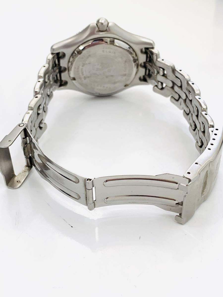 1907 480円~ 中古品 ELGIN/エルジン FK-664-A クォーツ メンズ 腕時計_画像7