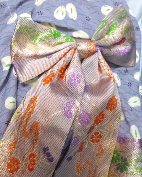 ワンオフMSD女の子すわりっこ限定なぎさ◆特注ウィッグリボン三つ編みカチューシャ造形村グラスアイ濃緑16mmボークスmayura様メイクヘッド_帯背中。着物に映える色合いです。