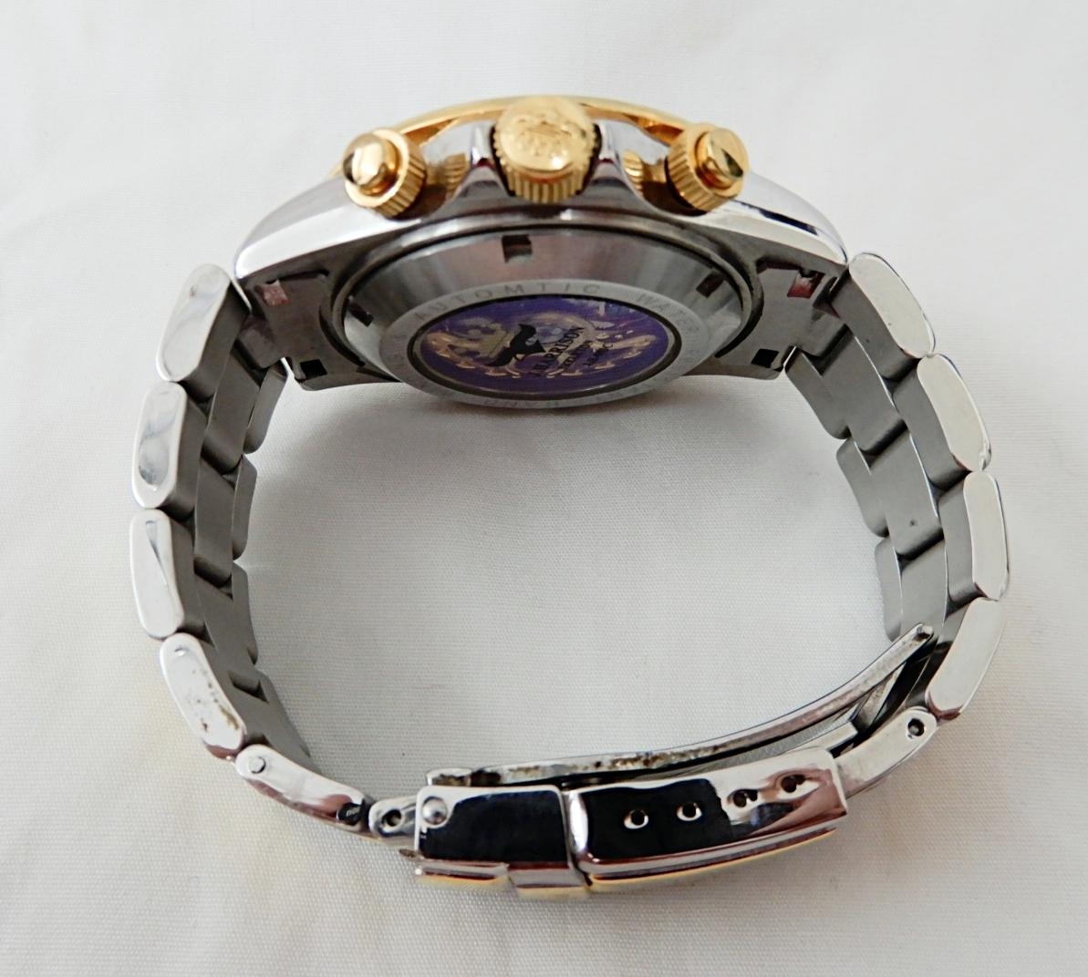 【USED品★1円~】 J.HARRISON / ジョンハリソン J.H-003C 自動巻き 両面スケルトン 腕時計_画像3