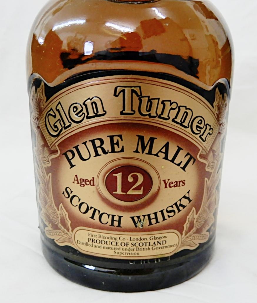 【古酒ボトル★1円~】 グレンターナー 12年 Glen Turner ピュアモルト スコッチ 700ml 未開栓品_画像5