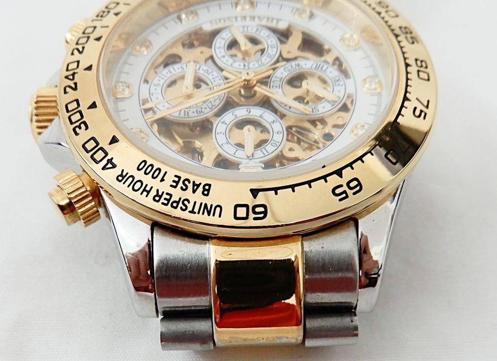 【USED品★1円~】 J.HARRISON / ジョンハリソン J.H-003C 自動巻き 両面スケルトン 腕時計_画像8