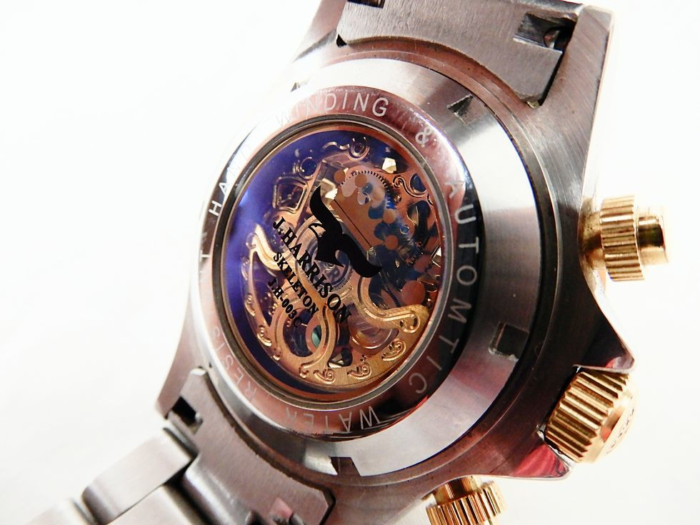 【USED品★1円~】 J.HARRISON / ジョンハリソン J.H-003C 自動巻き 両面スケルトン 腕時計_画像6