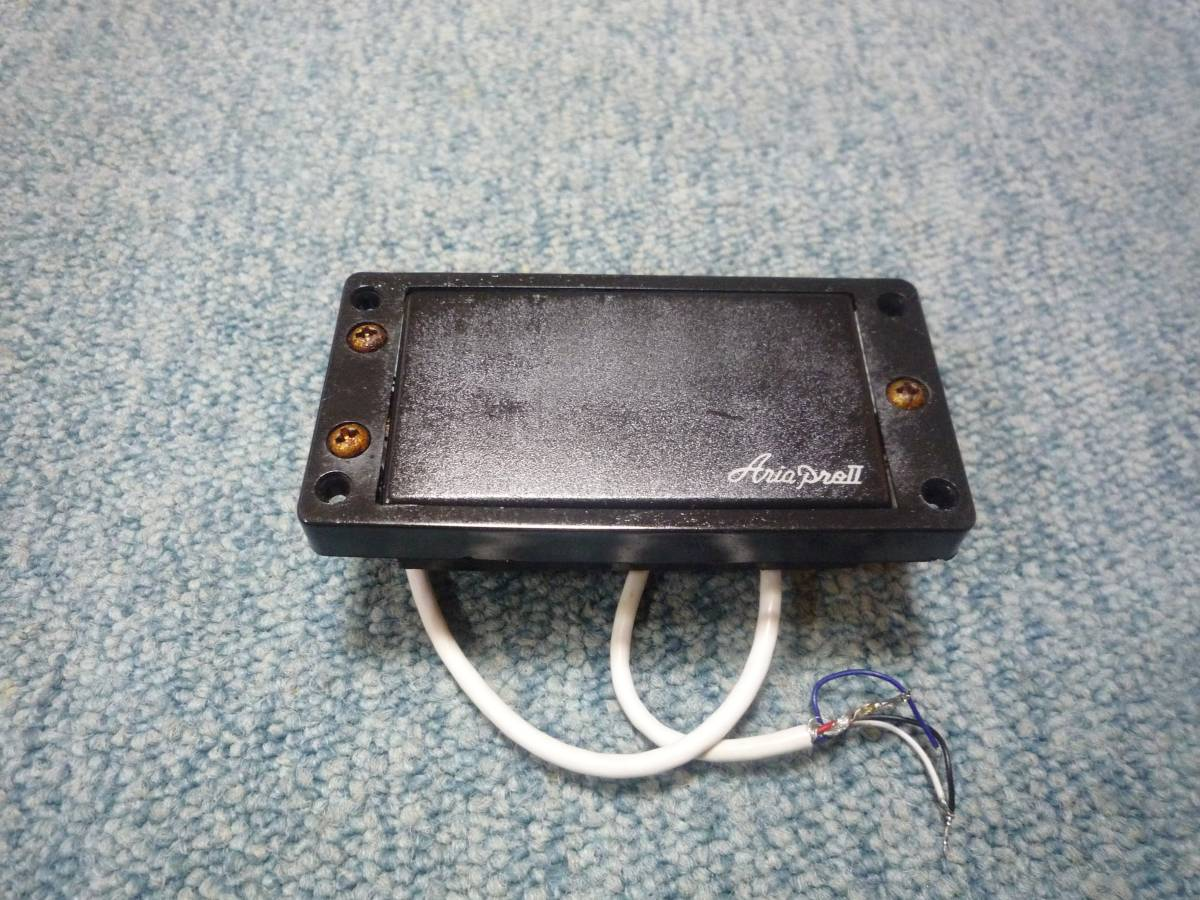 ARIA PRO Ⅱ JX-550 Humbacker Pickup アリアプロ2 ハムバッカー ピックアップ タップ可能 白ロゴ エスカッション付き_画像1