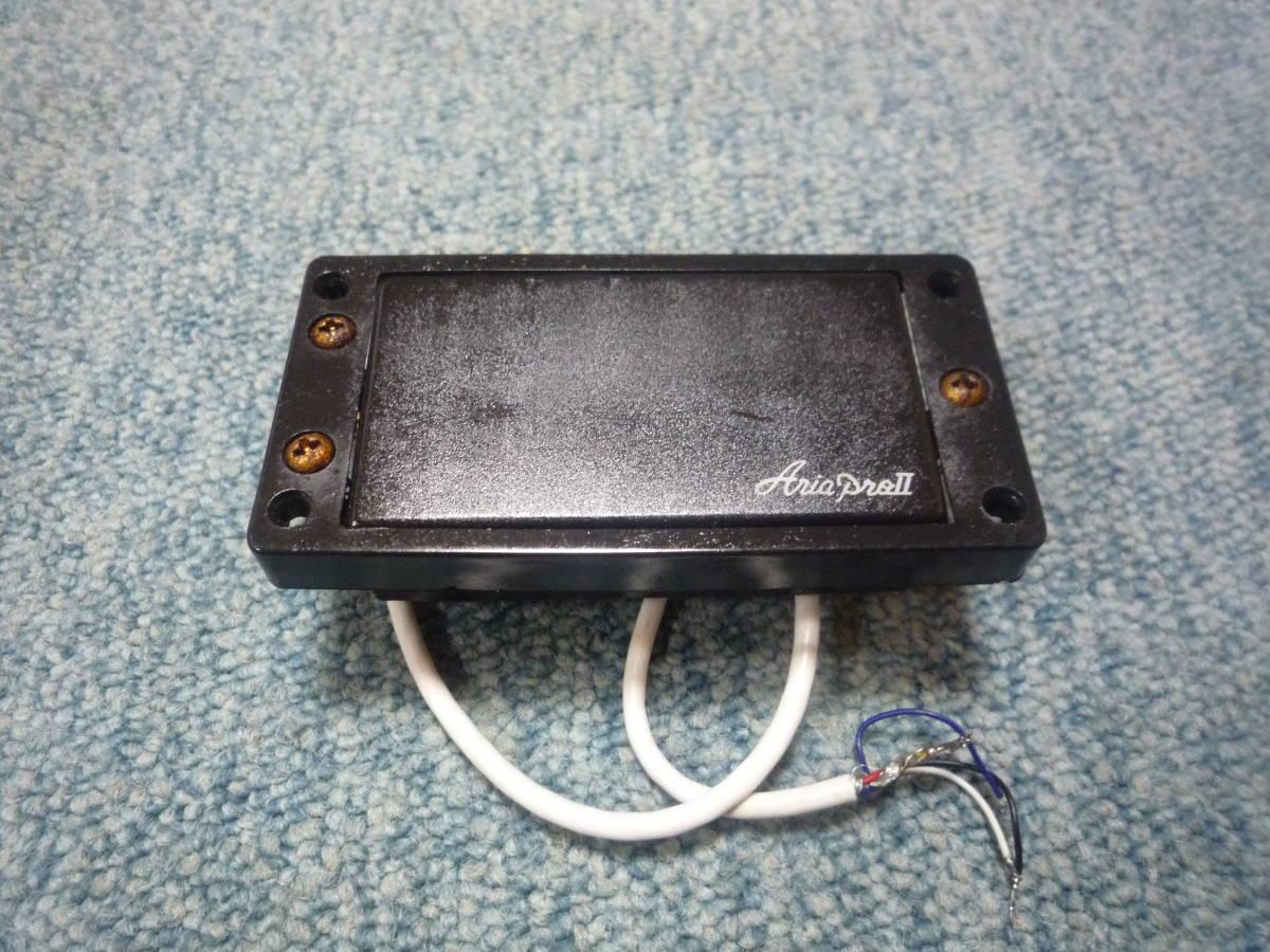 ARIA PRO Ⅱ JX-550 Humbacker Pickup アリアプロ2 ハムバッカー ピックアップ タップ可能 白ロゴ エスカッション付き_画像2