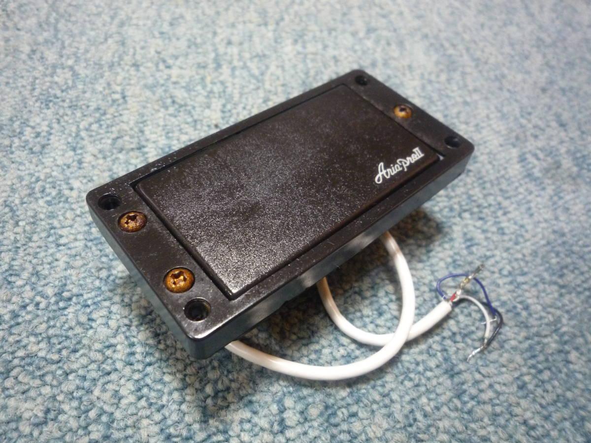 ARIA PRO Ⅱ JX-550 Humbacker Pickup アリアプロ2 ハムバッカー ピックアップ タップ可能 白ロゴ エスカッション付き_画像3