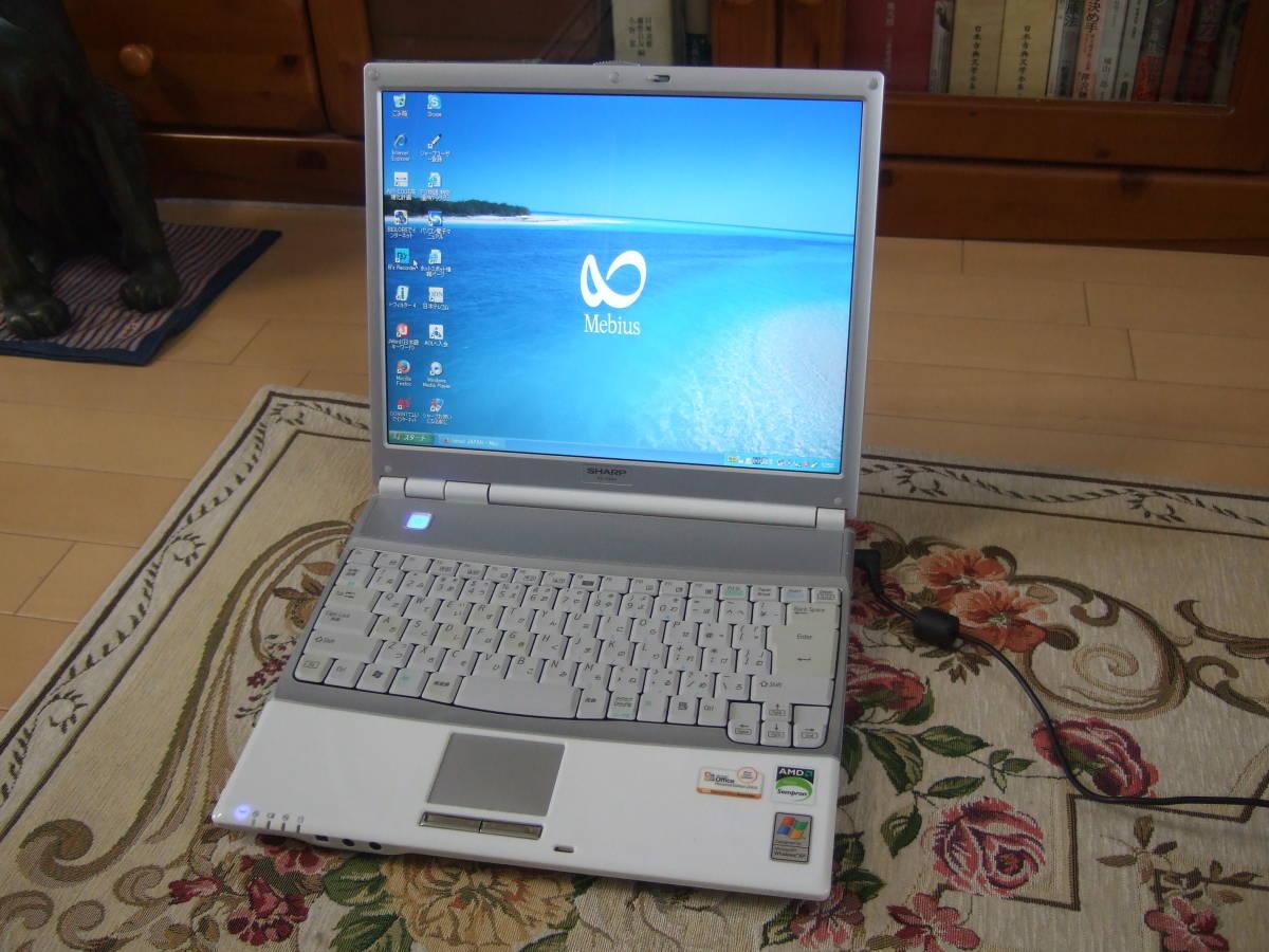 きれい Sharp PC-CS50J 1.60GHz/60GB/512MB/XP/office2007/Combo_画像1