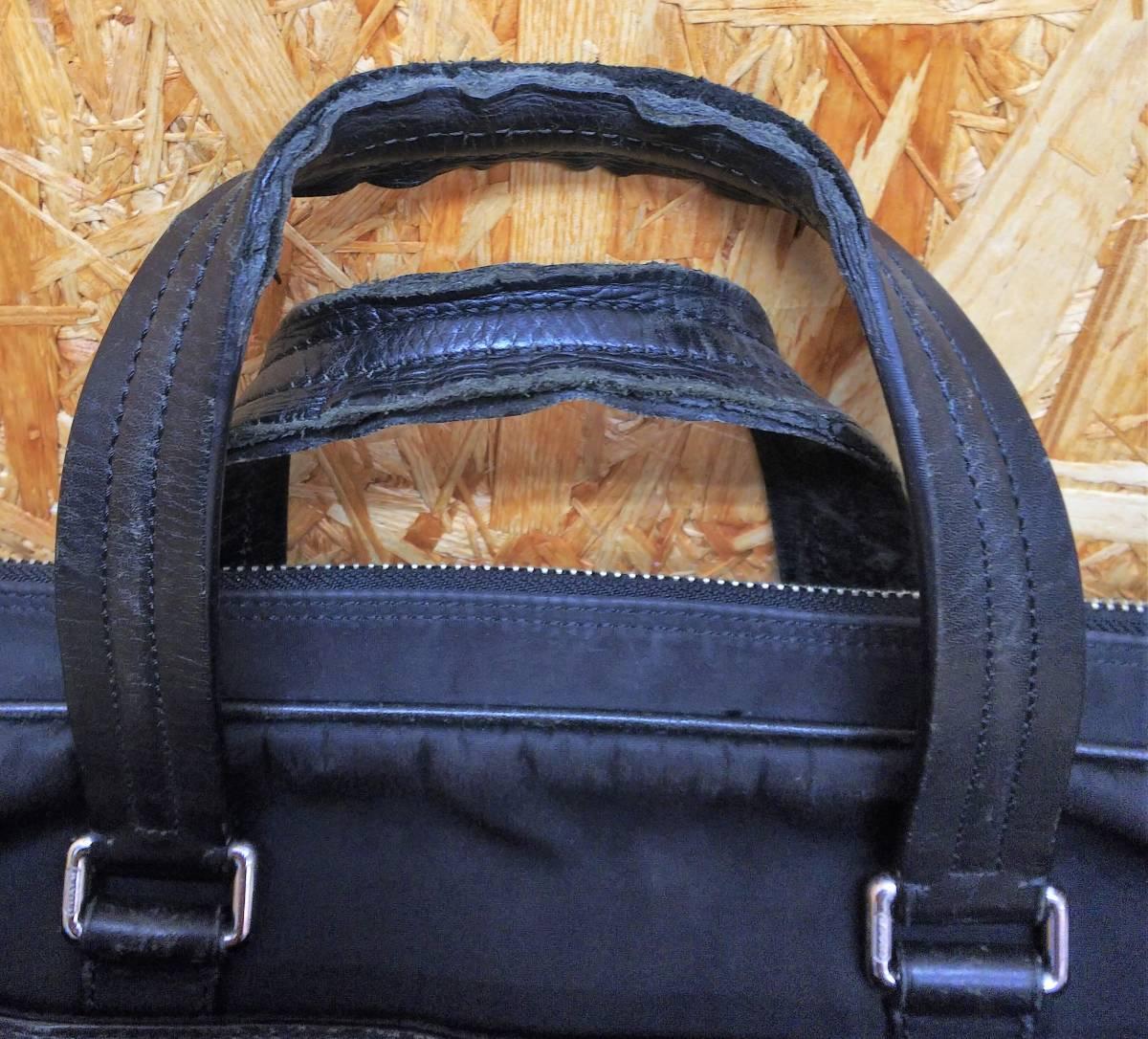 COACH/コーチ ミニシグネチャー ビジネスバッグ ブリーフケース ハンドバッグ ブラック ナイロン レザー メンズ F70596_画像8