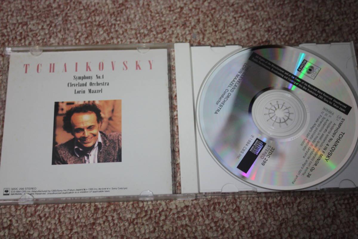 ピョートル・イリイチ・チャイコフスキー:交響曲第4番ヘ短調 op.36/ロリン・マゼール:指揮/クリーヴランド管弦楽団/CBS SONY/CD_画像2