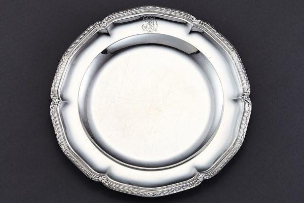 使える高級品◆PUIFORCAT ピュイフォルカ 純銀950シルバー製大型皿◆◆ 880g 直径29㎝