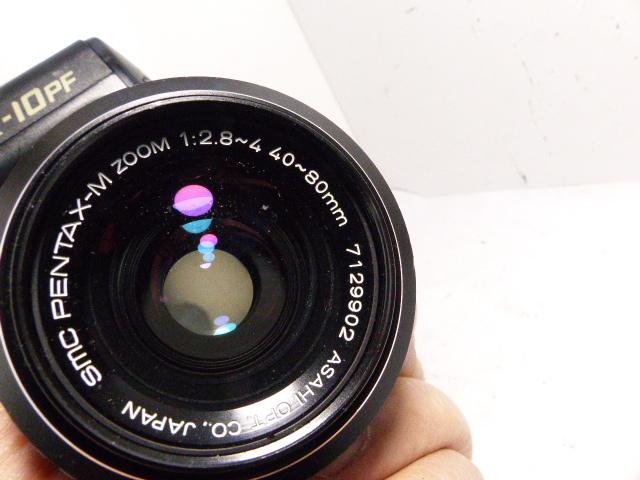 Kマウント リコーXR-10 PF+ペンタックス SMC-M40-80㎜F2.8-4マクロ  ジャンク_画像4