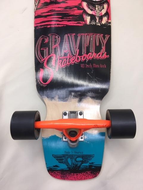 GRAVITY グラビティ スケートボード 40inch mini kick ロングスケボー サーフィン トレーニング 中古 程度良!!_画像8
