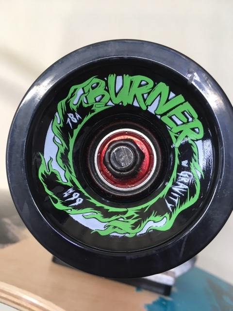 GRAVITY グラビティ スケートボード 40inch mini kick ロングスケボー サーフィン トレーニング 中古 程度良!!_画像10