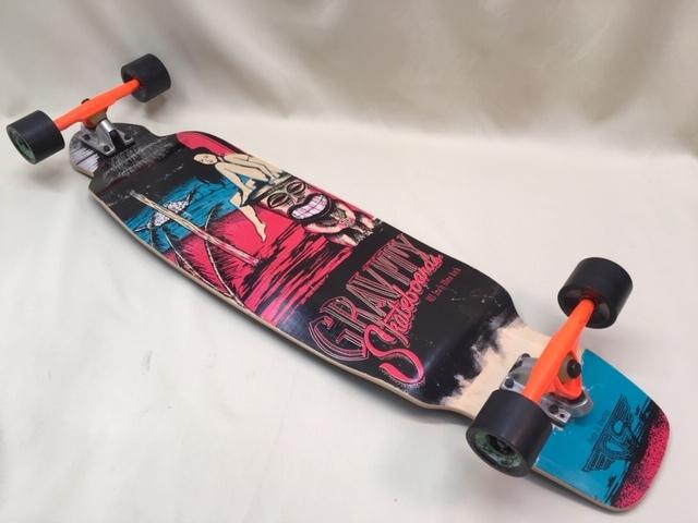 GRAVITY グラビティ スケートボード 40inch mini kick ロングスケボー サーフィン トレーニング 中古 程度良!!_画像2