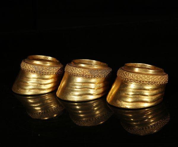 古董品 金貨 唐物 中国古美術 西漢時代 海昏侯墓出土 馬蹄金 上 中 下 擺件 賞物 精美品